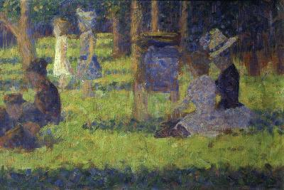 Study for 'A Sunday Afternoon on the Island of La Grande Jatte': Mothers and Children, 1886-Georges Seurat-Giclee Print