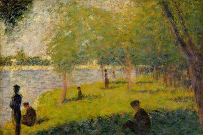 "Study for ""A Sunday on La Grande Jatte"", 1884-Georges Pierre Seurat-Giclee Print"