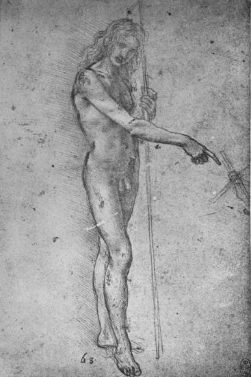 'Study for a Youthful St. John the Baptist', c1480 (1945)-Leonardo da Vinci-Giclee Print