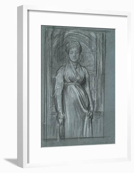 Study for 'After Vespers', C.1871-Frederic Leighton-Framed Giclee Print