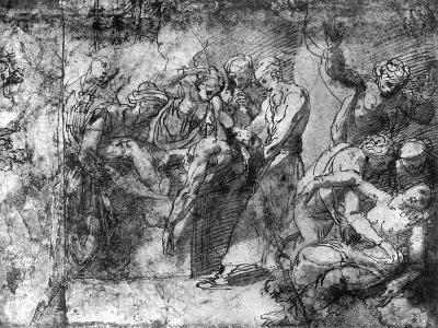 Study for an Entombment, Attributed to Raphael, 1913-Raphael-Giclee Print