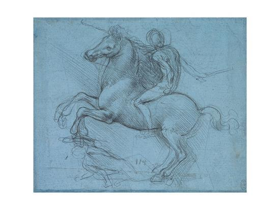 Study for an Equestrian Monument, Recto, by Leonardo Da Vinci-Leonardo Da Vinci-Giclee Print