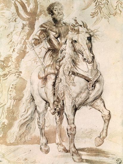 Study For an Equestrian Portrait of the Duke of Lerma-Peter Paul Rubens-Giclee Print