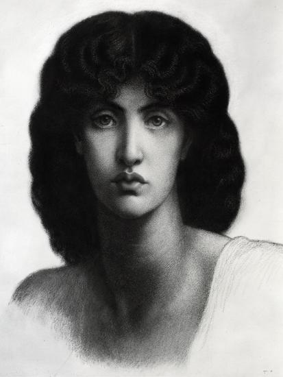 Study for Astarte Syriaca, Model Jane Morris, Pencil, 1875-Dante Gabriel Rossetti-Giclee Print