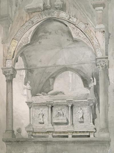 Study for Detail of the Sarcophagus and Canopy of the Tomb of Mastino II Della Scala at Verona-John Ruskin-Giclee Print