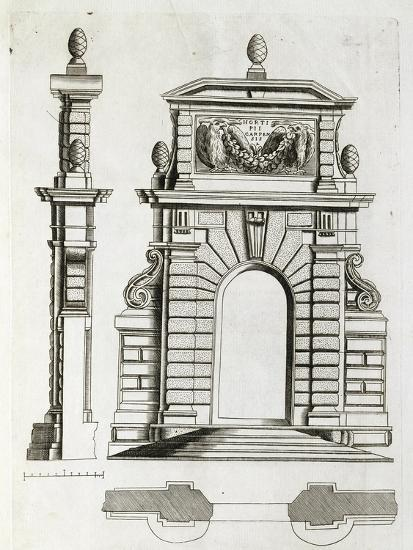 Study for Doorway in Villa Farnese in Caprarola, Near Viterbo--Giclee Print