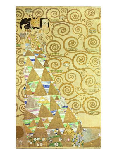 Study for Expectation, C.1905-09 (W/C and Gold on Paper) (See 65841)-Gustav Klimt-Giclee Print