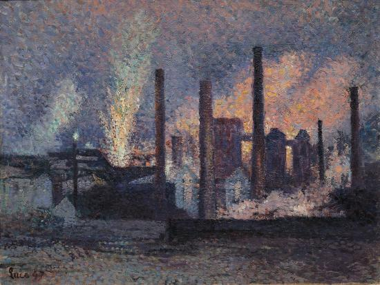 Study for Factories Near Charleroi, 1897-Maximilien Luce-Giclee Print