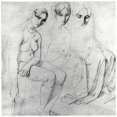 Study for Francesca Da Rimini-Jean-Auguste-Dominique Ingres-Giclee Print