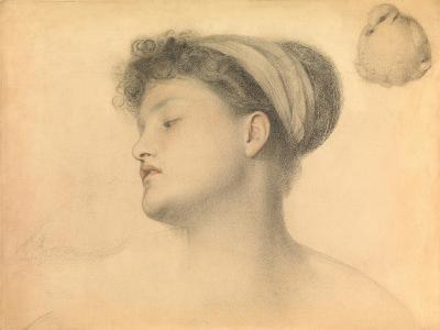 Study for Girl with Doves-Anthony Frederick Augustus Sandys-Giclee Print