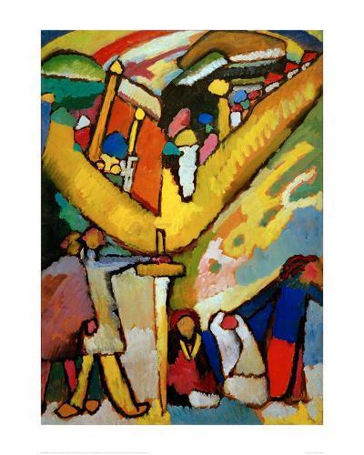 Study for Improvisation 8, 1910-Wassily Kandinsky-Giclee Print
