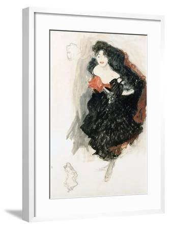 Study For Judith II-Gustav Klimt-Framed Giclee Print