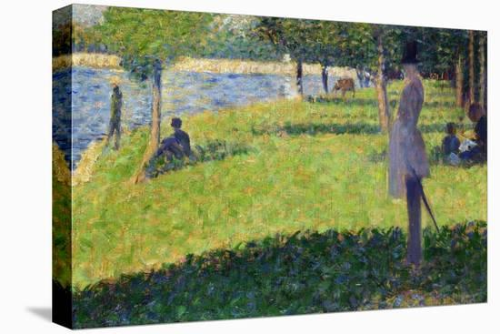 Study for La Grande Jatte, 1884-1885-Georges Seurat-Stretched Canvas Print