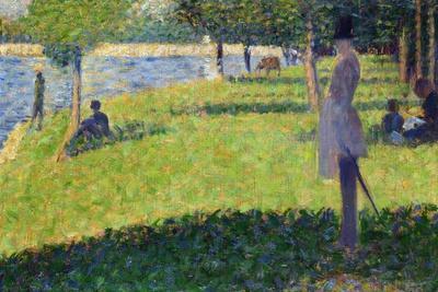 Study for La Grande Jatte, 1884-1885-Georges Seurat-Giclee Print