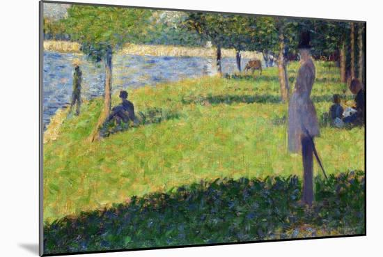 Study for La Grande Jatte, 1884-1885-Georges Seurat-Mounted Giclee Print