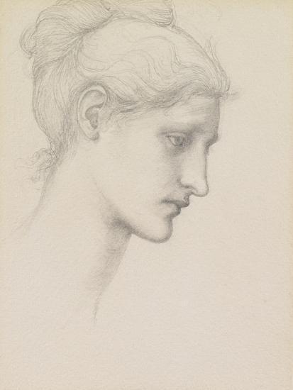 Study for Laus Veneria, C.1875 (Pencil on Paper)-Edward Burne-Jones-Giclee Print