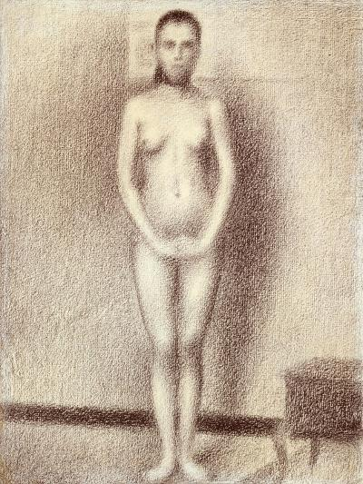 "Study for ""Les Poseuses"", 1886-Georges Seurat-Giclee Print"