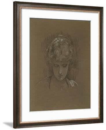 Study for 'Mrs. Williams', 1877-92-Frederic Leighton-Framed Giclee Print