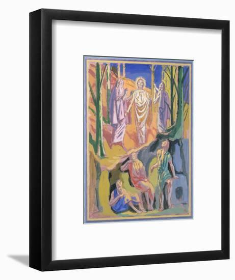 Study for mural of the Ascension, 1973-Hans Feibusch-Framed Giclee Print