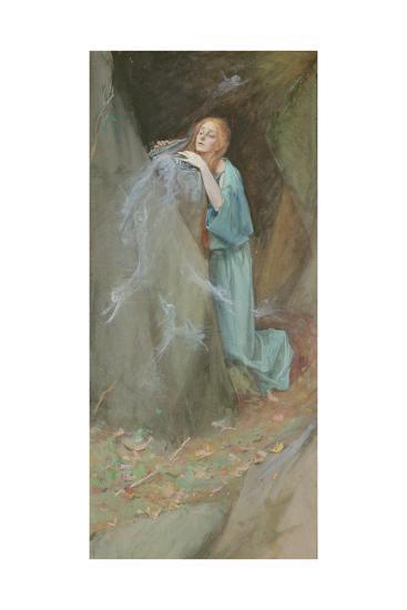 Study for Pandora, 1902-Henry Meynell Rheam-Giclee Print