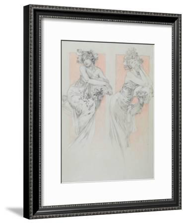 Study for Plate 12 from 'Documents Decoratifs', 1902-Alphonse Mucha-Framed Giclee Print