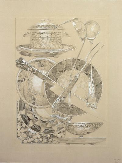 Study for Plate 59 from 'Documents Decoratifs', 1902-Alphonse Mucha-Giclee Print