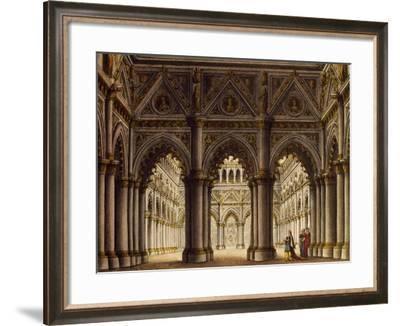 Study for Setting of Opera by Perugian Set Designer Sanguicci, Italy--Framed Giclee Print