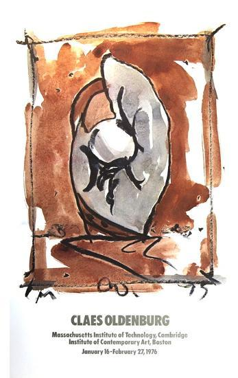 Study For Standing Baseball Mitt and ball-Claes Oldenburg-Collectable Print