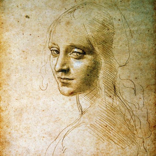 Study for the Angel of the Virgin of the Rocks-Leonardo da Vinci-Premium Giclee Print