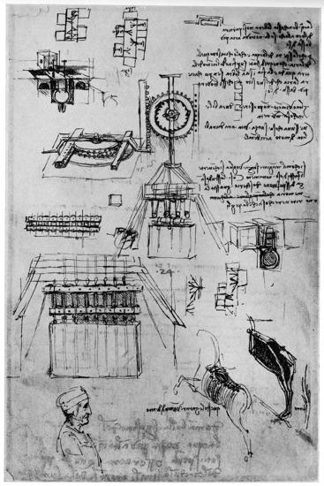 Study for the Casting of the Sforza Monument, C1493-Leonardo da Vinci-Giclee Print