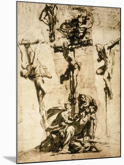Study for the Crucifixion, Gallerie Dell'Accademia, Venice-Jacopo Robusti Tintoretto-Mounted Premium Giclee Print