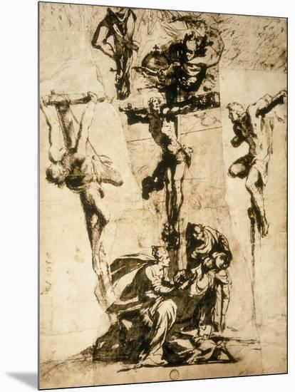Study for the Crucifixion, Gallerie Dell'Accademia, Venice-Jacopo Robusti Tintoretto-Mounted Giclee Print