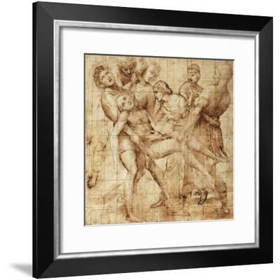Study for the Deposition of Pala Baglioni--Framed Giclee Print