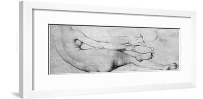 Study for the Grande Odalisque-Jean-Auguste-Dominique Ingres-Framed Giclee Print