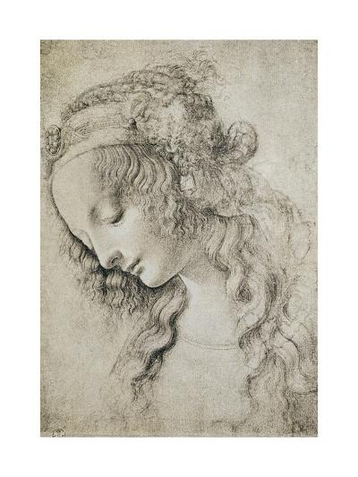 Study for the Head of Mary Magdalene-Leonardo da Vinci-Giclee Print