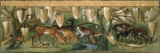 Study for the Holy Grail Tapestries-Edward Burne-Jones-Giclee Print