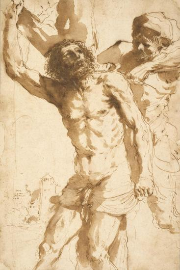 Study for the Martyrdom of Saint Bartholomew, 1635-36-Guercino-Giclee Print