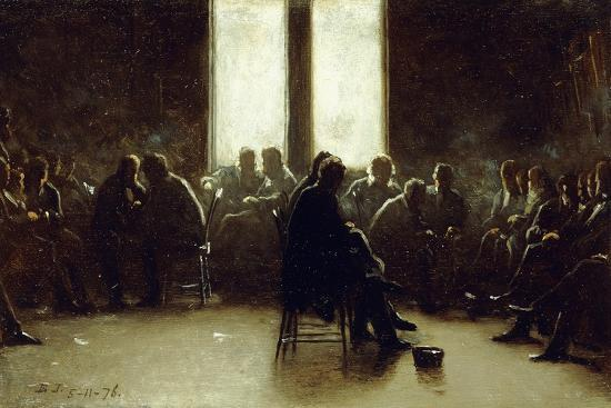 Study for the Nantucket School of Philosophy, 1876-Eastman Johnson-Giclee Print