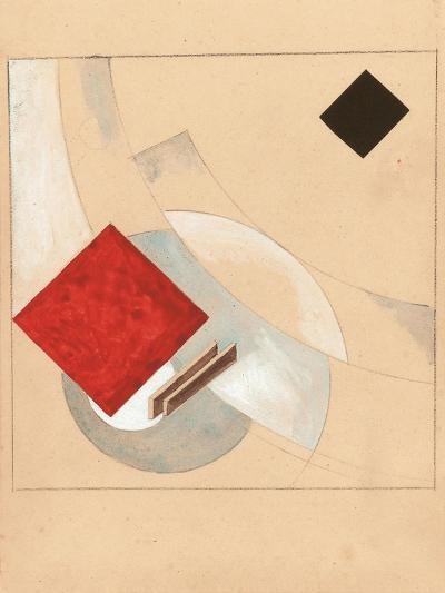 Study (For the Story of Two Quadrat), C. 1920-El Lissitzky-Giclee Print