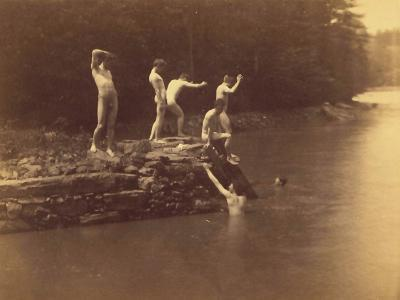 Study for the Swimming Hole, 1883-Thomas Cowperthwait Eakins-Photographic Print