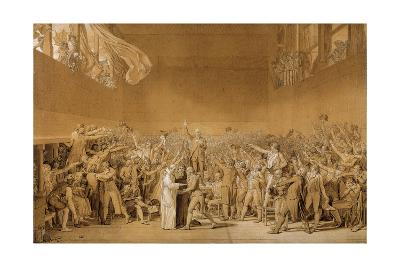 Study for the Tennis Court Oath, June 20, 1789-Jacques Louis David-Giclee Print