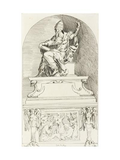 Study for the Tomb of Pope Clement VII, after Baccio-Anne-Claude-Philippe de Caylus-Giclee Print