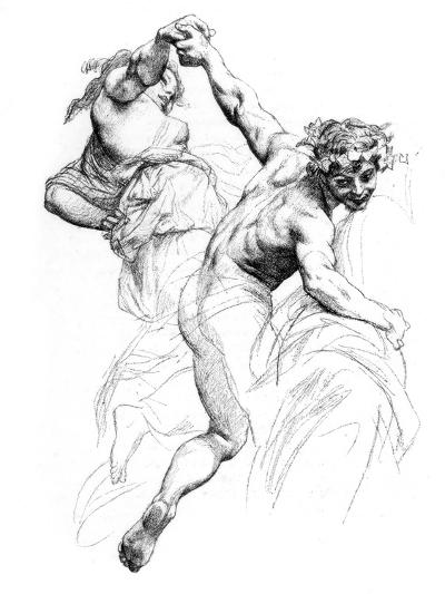 Study for the Triumph of Flora, C1880-1882-Alexandre Cabanel-Giclee Print