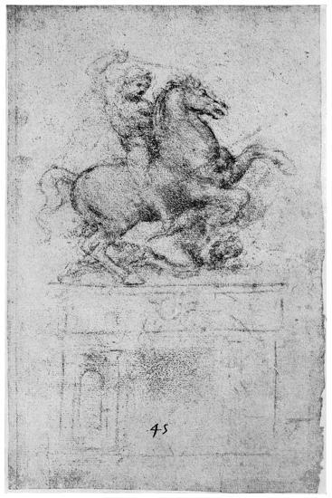 Study for the Trivulzio Monument, C1508-Leonardo da Vinci-Giclee Print