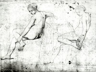 Study For the Turkish Bath-Jean-Auguste-Dominique Ingres-Giclee Print