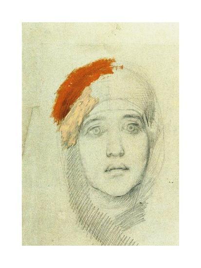 Study for the Virgin, 1884-Mikhail Aleksandrovich Vrubel-Giclee Print
