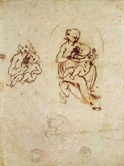 Study for the Virgin and Child, C.1478-1480-Leonardo da Vinci-Giclee Print