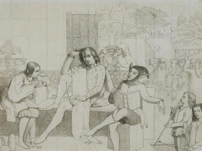 Study for 'Twelfth Night'-Walter Howell Deverell-Giclee Print