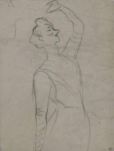 Study for Yvette Guilbert (1867-1944), the Left Arm-Henri de Toulouse-Lautrec-Giclee Print