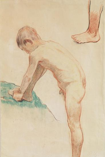 Study of a Boy and a Foot, 1888-Paul Gauguin-Giclee Print